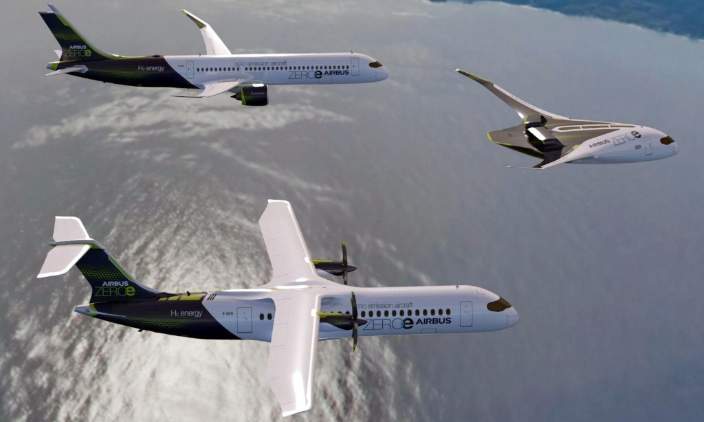 Airbus reveals plans for zero-emission aircraft fuelled by hydrogen