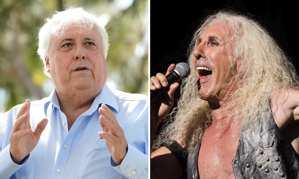 Twisted Sister frontman tells court Clive Palmer 'not good for my image' in copyright case