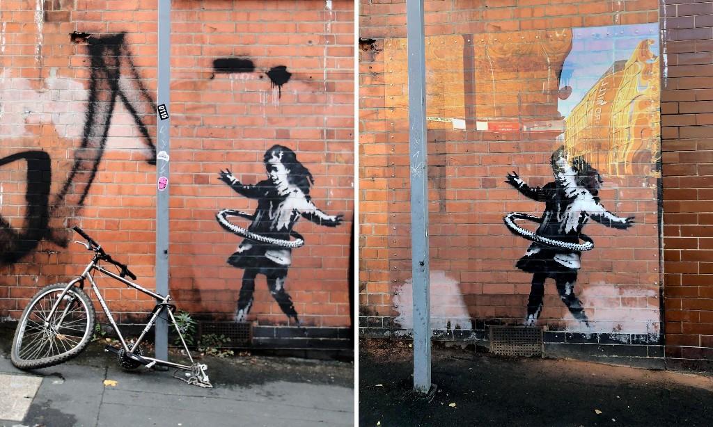 Bike disappearance mars Banksy artwork in Nottingham