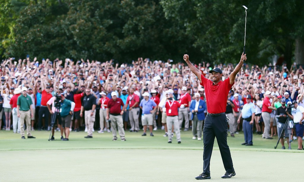 Tiger Woods claims Tour Championship for first victory in five years