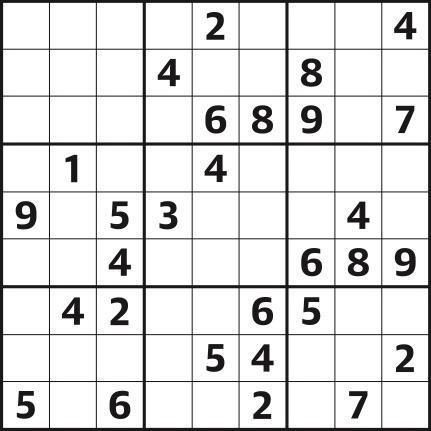 Sudoku 4,827 easy