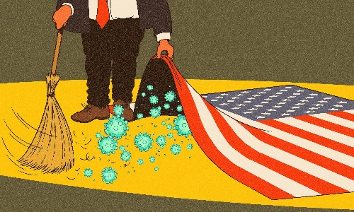 Donald Trump's war on coronavirus is just his latest war on truth