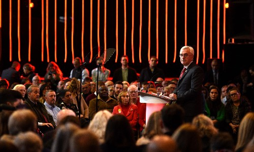 McDonnell unveils Labour plans for £400bn in investment