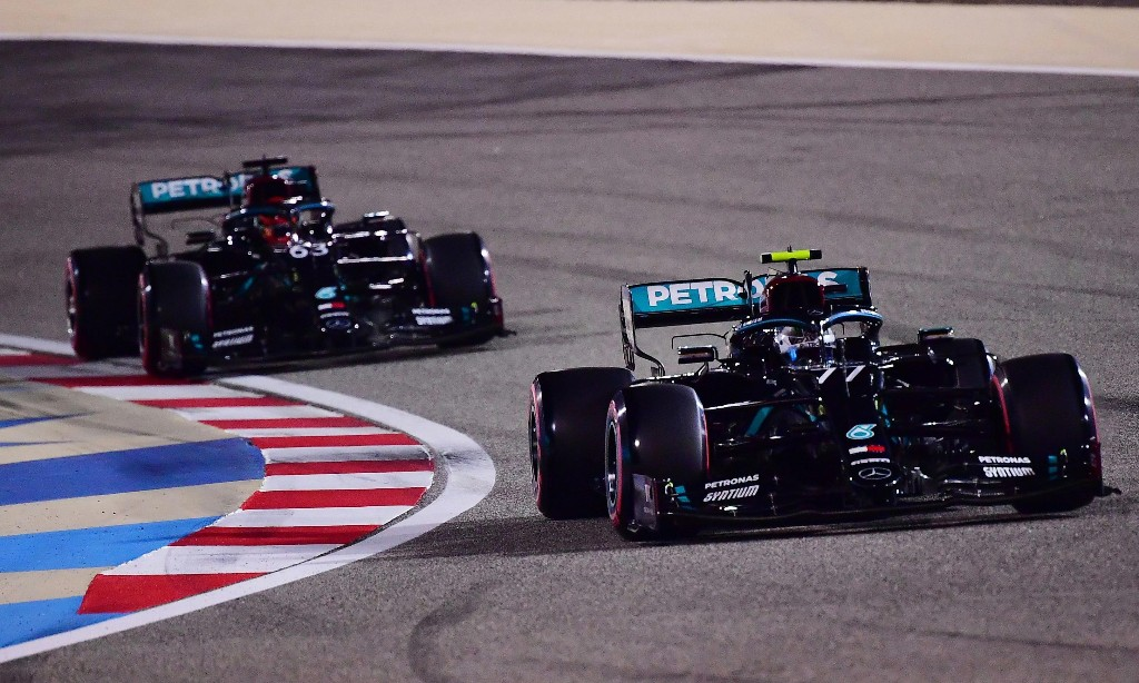 George Russell pipped for Sakhir F1 GP pole by Valtteri Bottas