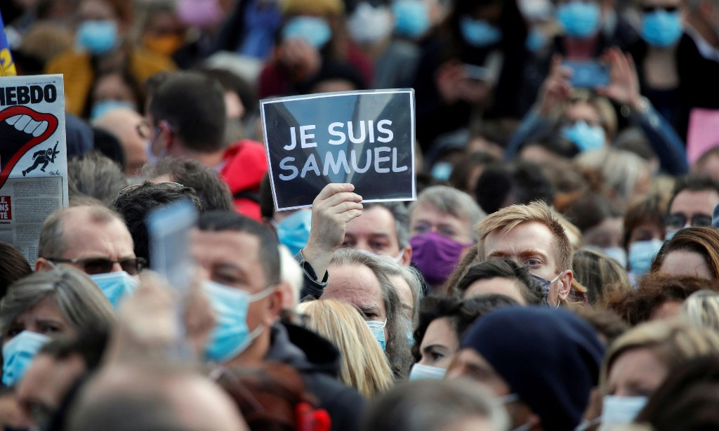 Thousands rally across France in tribute to murdered schoolteacher