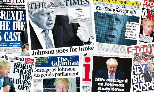 'Day democracy died': what the papers say about proroguing parliament