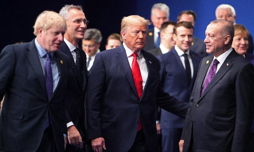 Footage appears to show world leaders joking about Trump at Nato summit