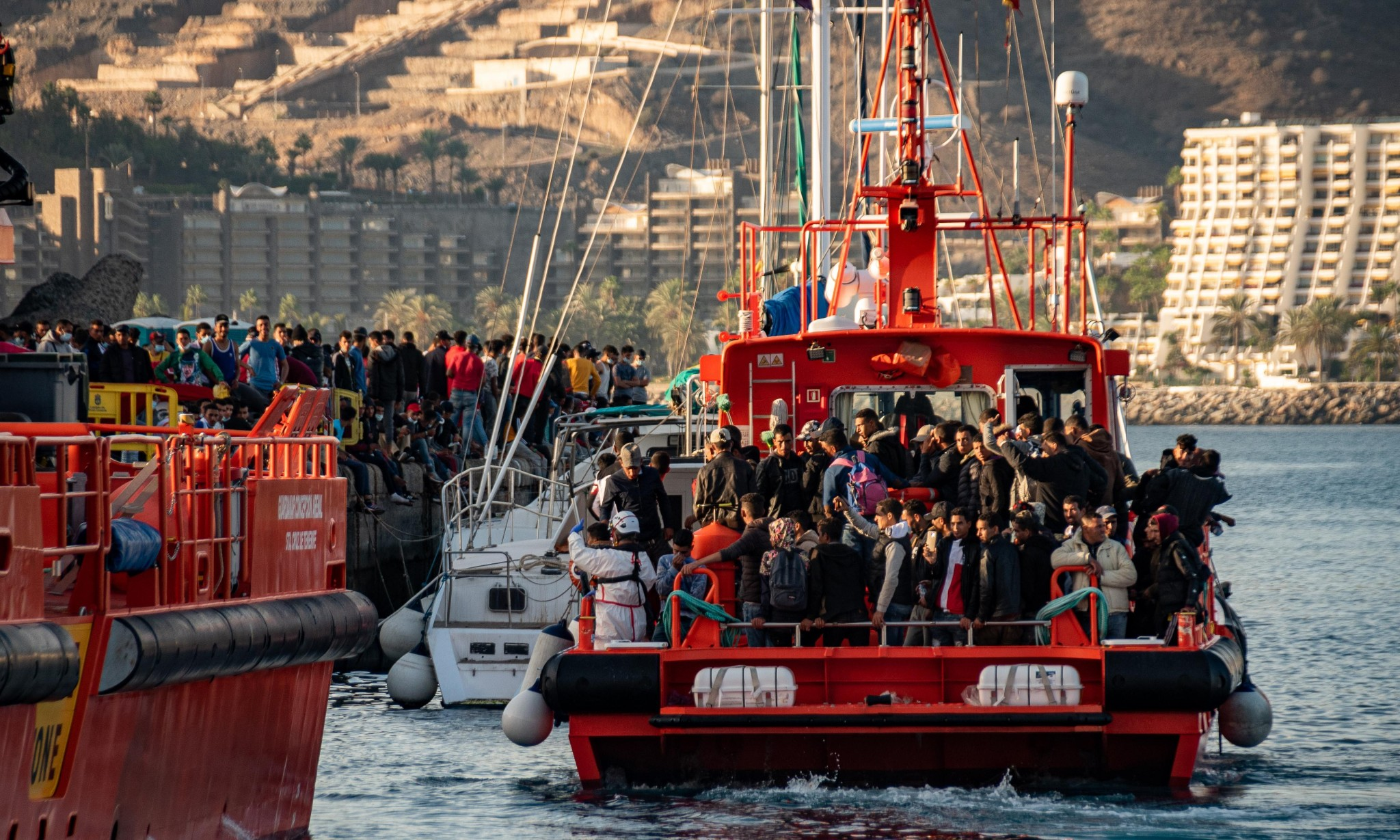 'This lack of humanity can't go on': Canary Islands struggle with huge rise in migration