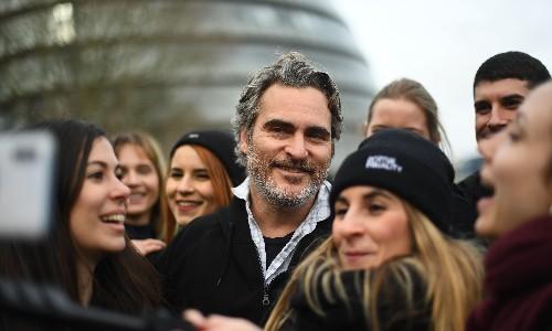 Joaquin Phoenix urges people to 'go vegan'