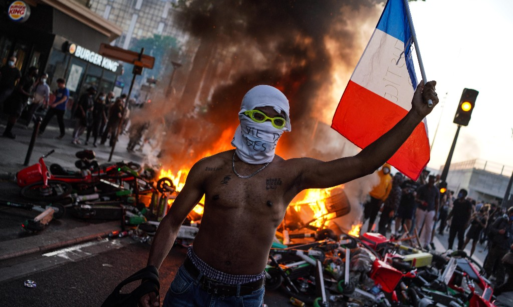 France not racist state, Macron spokesperson says after Paris protest