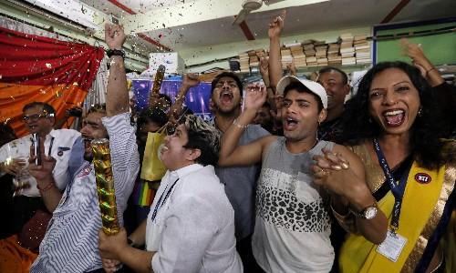 Campaigners celebrate as India decriminalises homosexuality