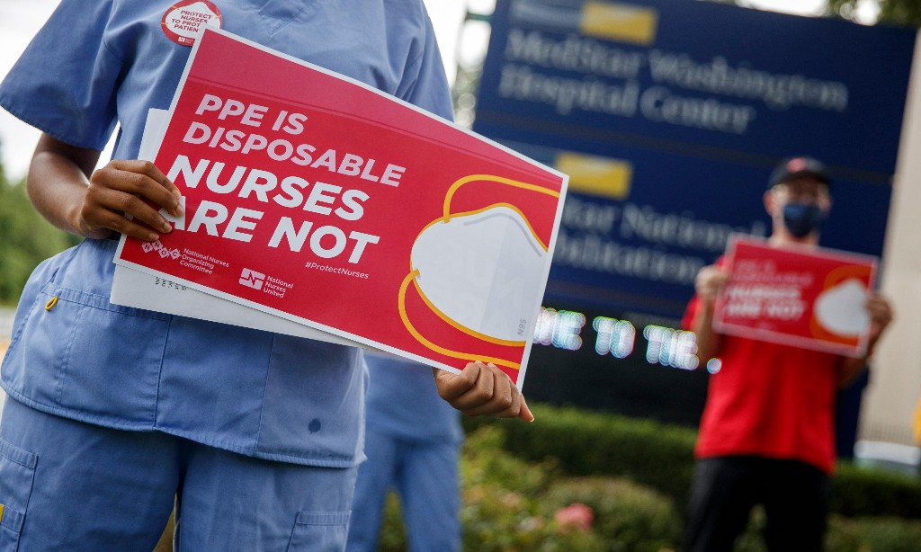 'Just a matter of time': nurses die as US hospitals fail to contain Covid-19