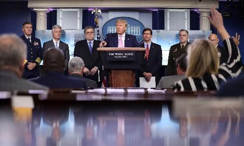 Trump says US stockpile of protective equipment nearly gone amid coronavirus