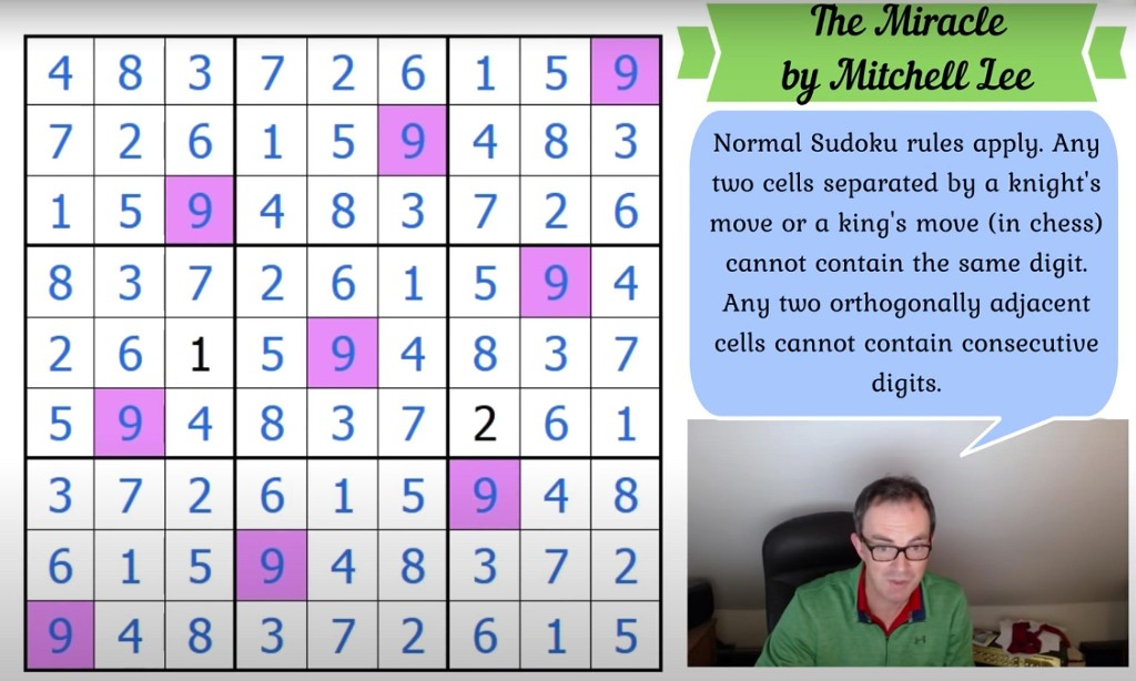 Puzzled man solving 'miracle' sudoku becomes YouTube sensation