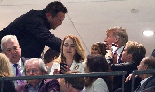 Uproar after Vince Vaughn shakes Trump's hand at football game