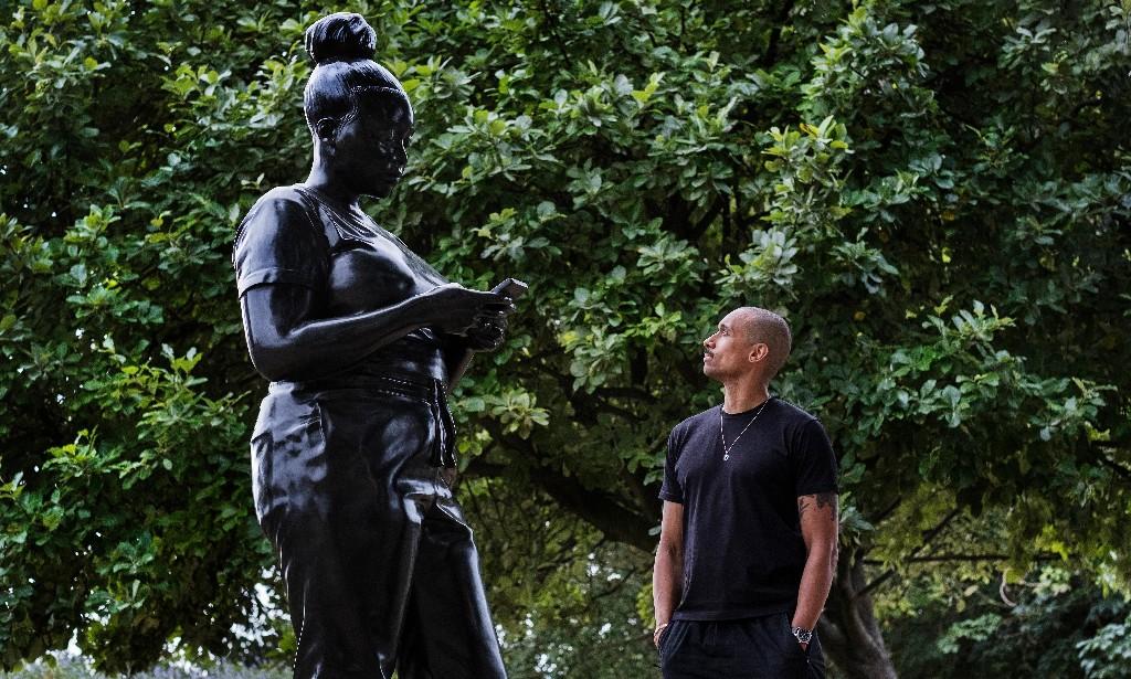 Sculptor's black 'everywoman' erected on public art walk in London