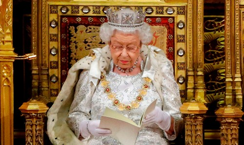 Queen reduced to furious frontwoman for grubby election stunt