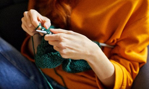 What I'm really watching: instructional knitting videos