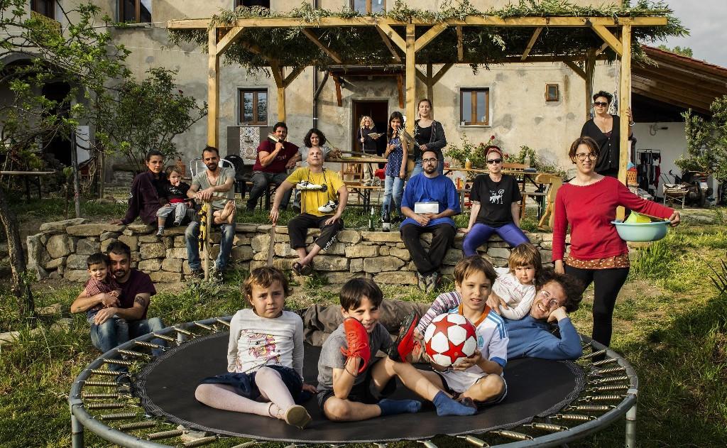 Portraits of families living together through coronavirus