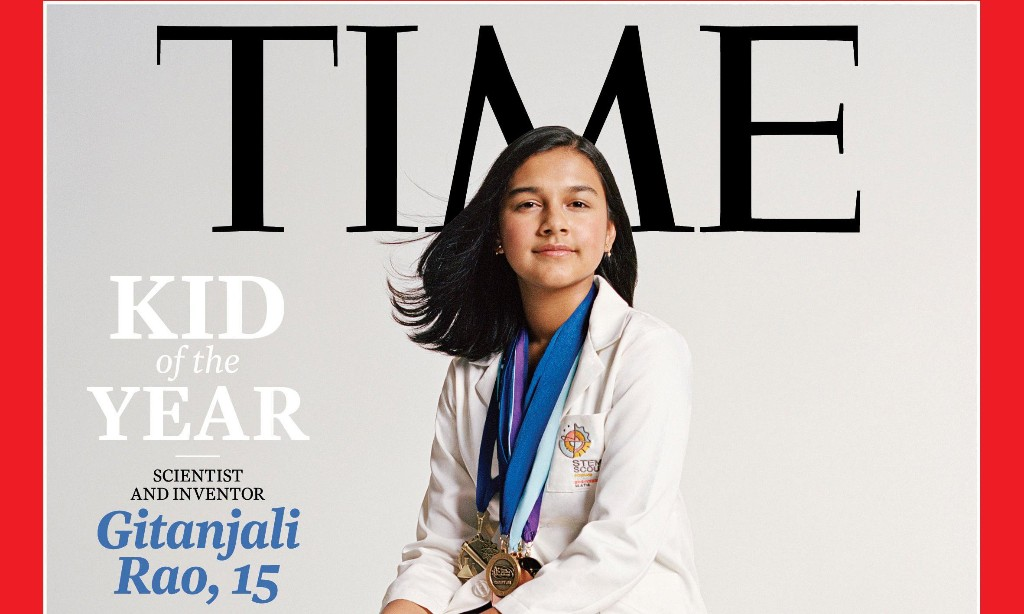 Gitanjali Rao: Time magazine names teenage inventor its first 'kid of the year'