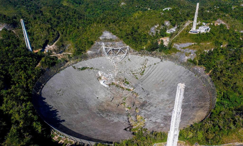 Giant Arecibo radio telescope collapses in Puerto Rico
