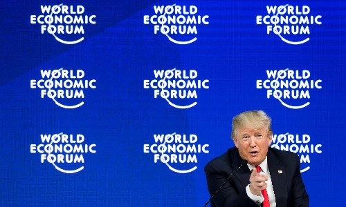 Trump is on trial for abusing his power – the Davos elites should join him