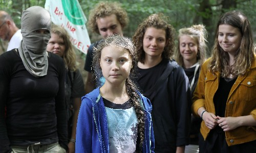 Greta Thunberg takes climate fight to Germany's threatened Hambach Forest