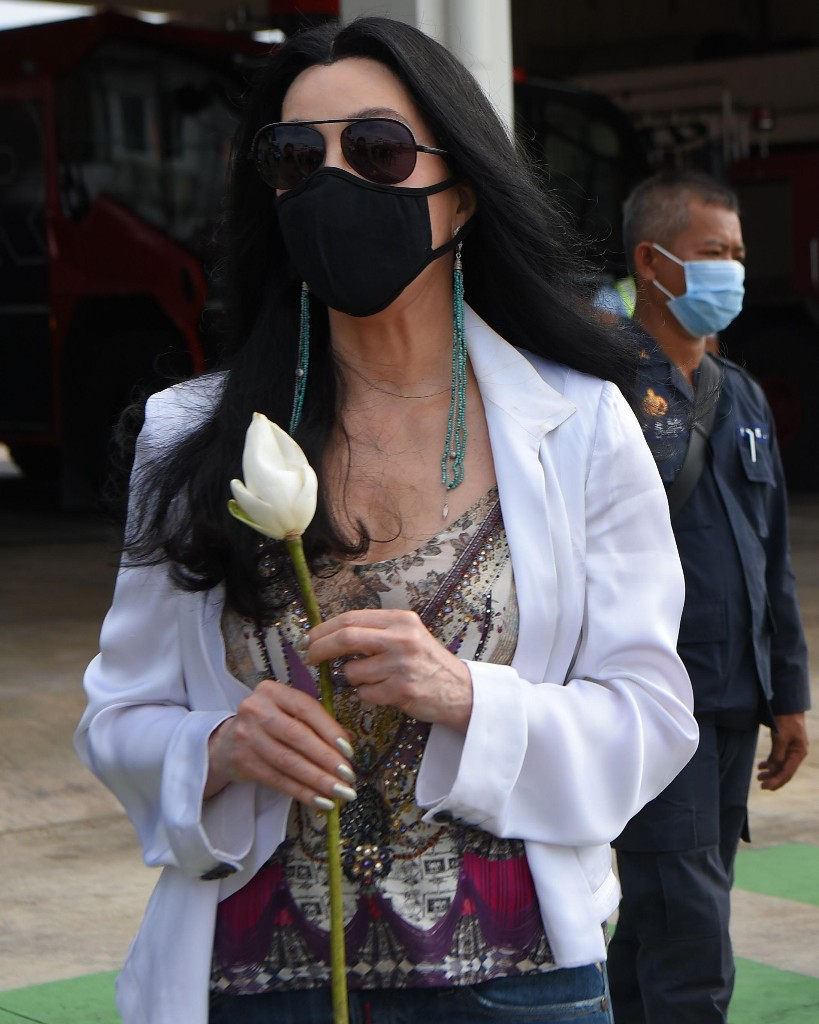 Cher greets 'world's loneliest elephant' in Cambodia