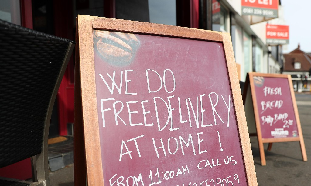 Groceries from the dry-cleaner? UK firms switch to food delivery