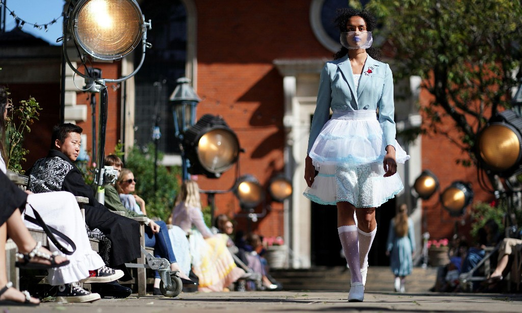 'This moment needs joy and optimism and feathers' – London fashion week aims to stay upbeat