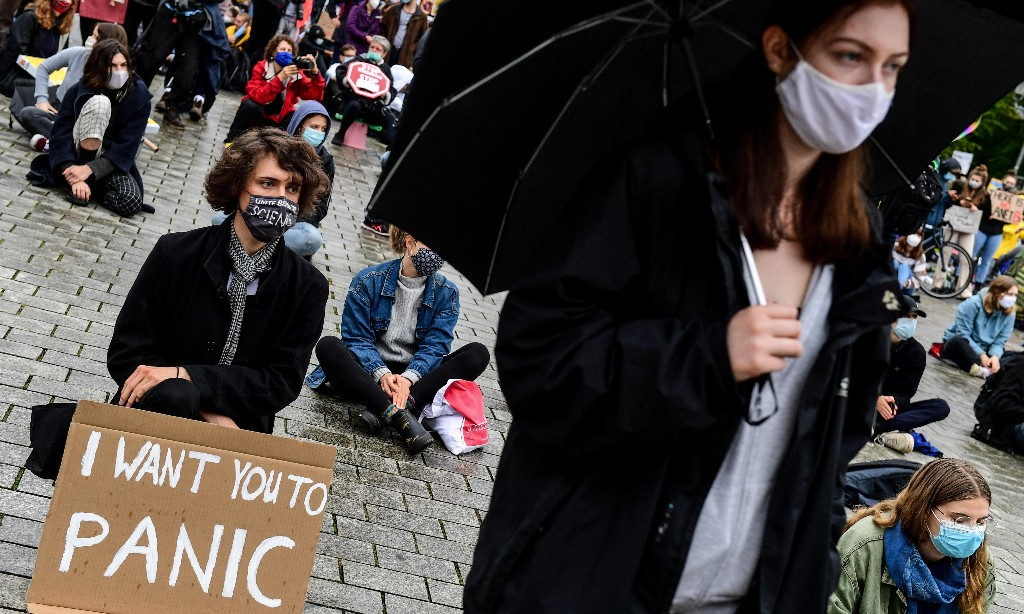 Young people resume global climate strikes calling for urgent action