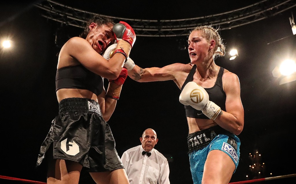 Tayla Harris image takes out top sport prize again, this time in a boxing ring