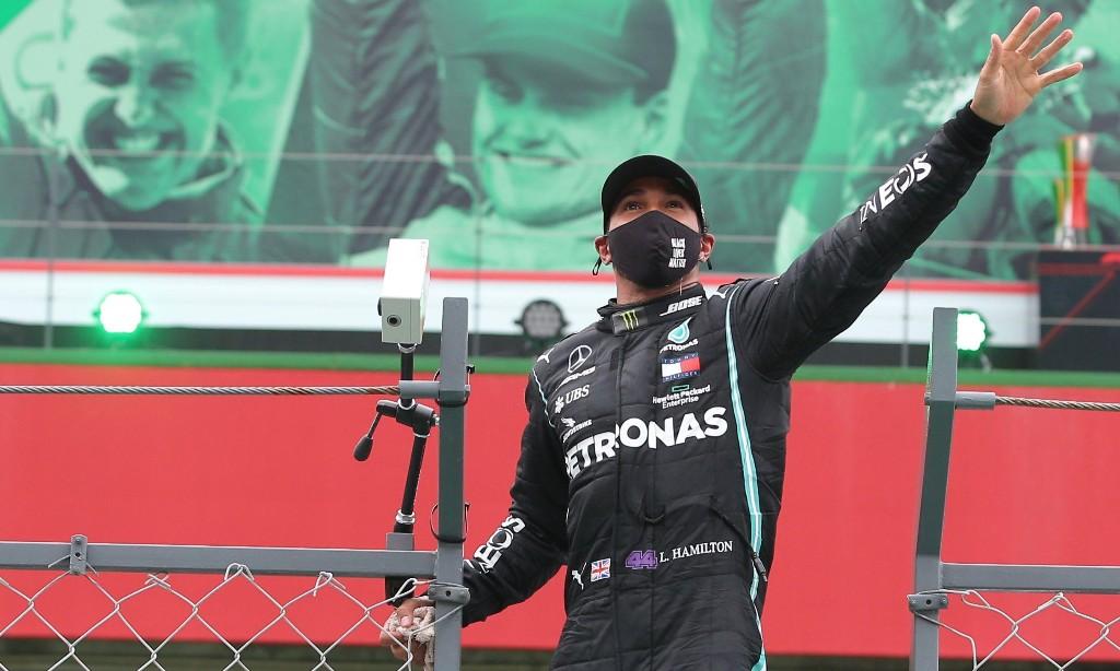 Lewis Hamilton wins Portuguese GP to break Michael Schumacher's F1 record
