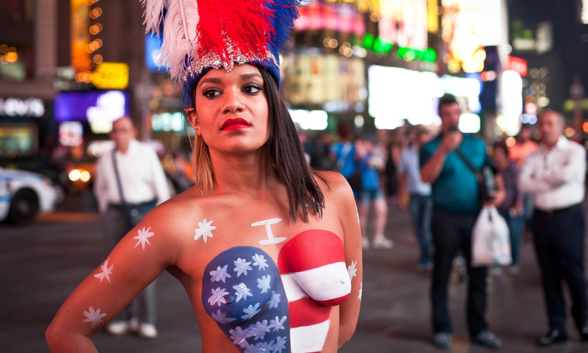A day with Saira, one of the original topless painted ladies of New York City