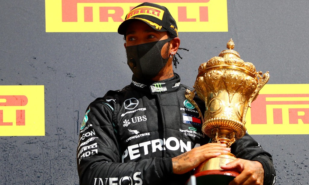 Lewis Hamilton basks in 'most dramatic race ending' after winning with puncture