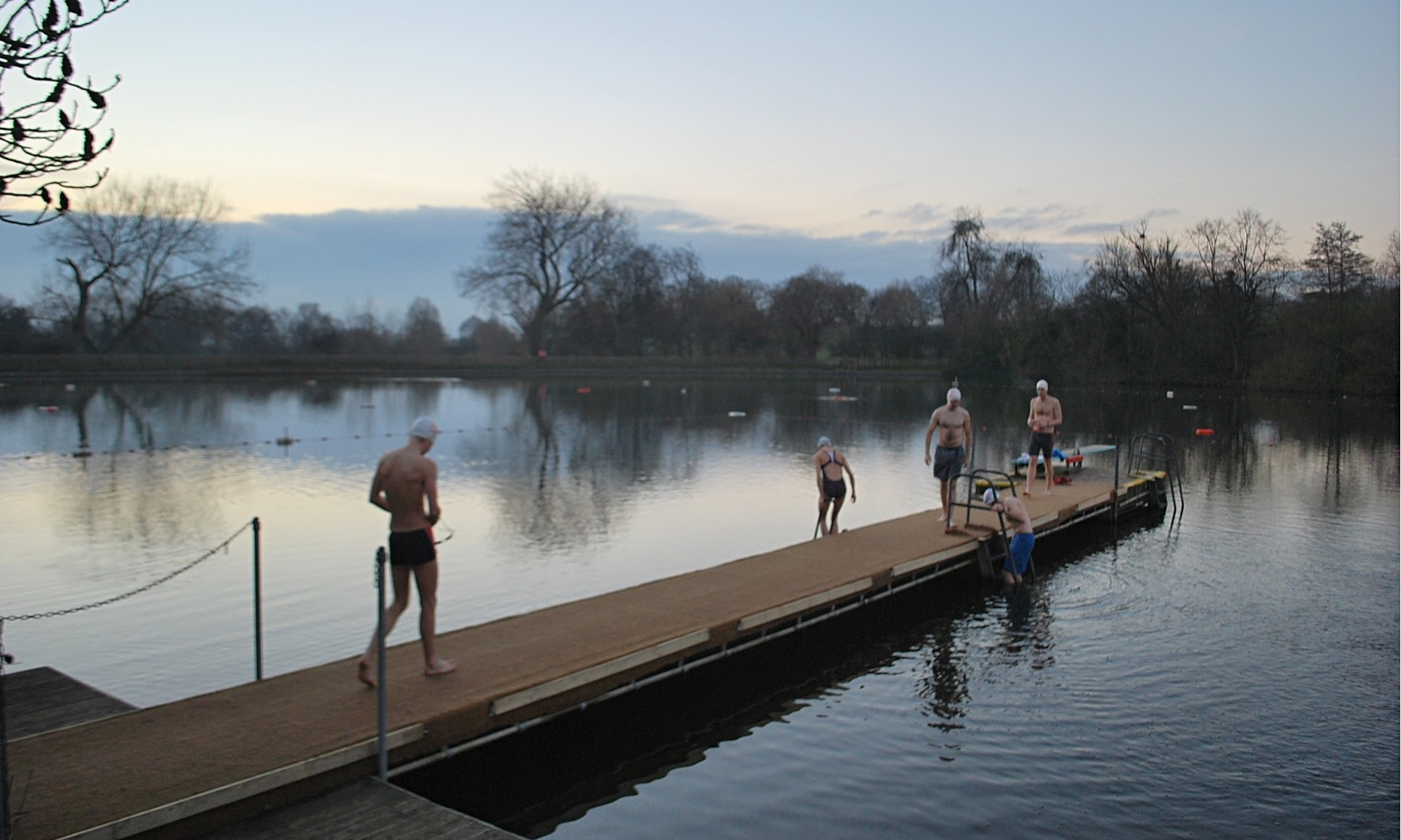 The perfect joy of swimming and running through London