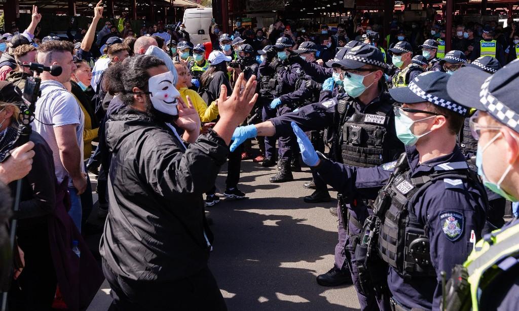 How Victoria's Covid lockdown protests are galvanising Australia's right