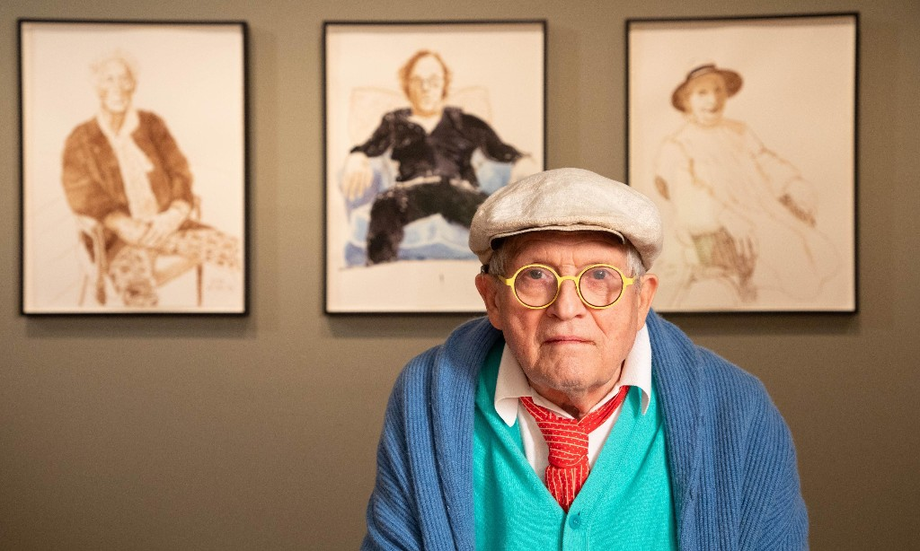 David Hockney: Drawing from Life review – stripping subjects down to their gym socks