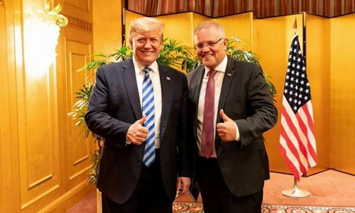 With Trump there is no bottom and it looks like Australia will follow him all the way down