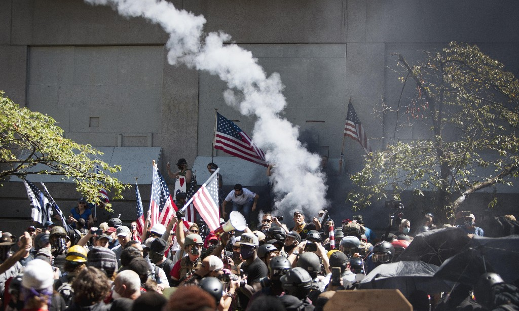 Revealed: pro-Trump activists plotted violence ahead of Portland rallies