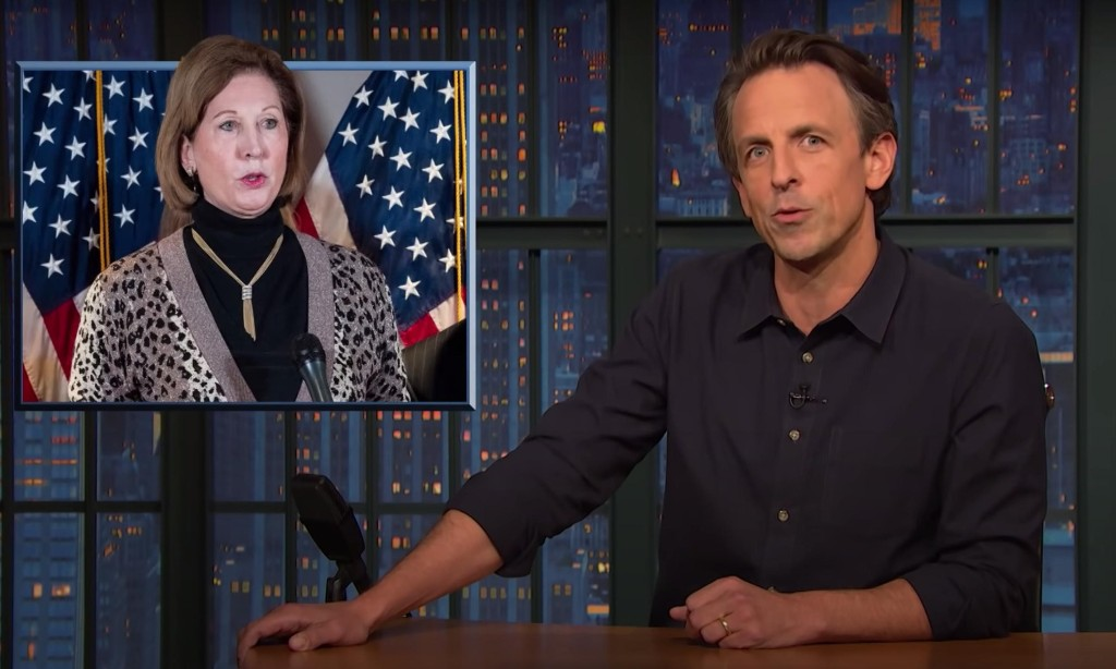 Seth Meyers rips Sidney Powell, 'the craziest addition to the Trump Cinematic Universe'