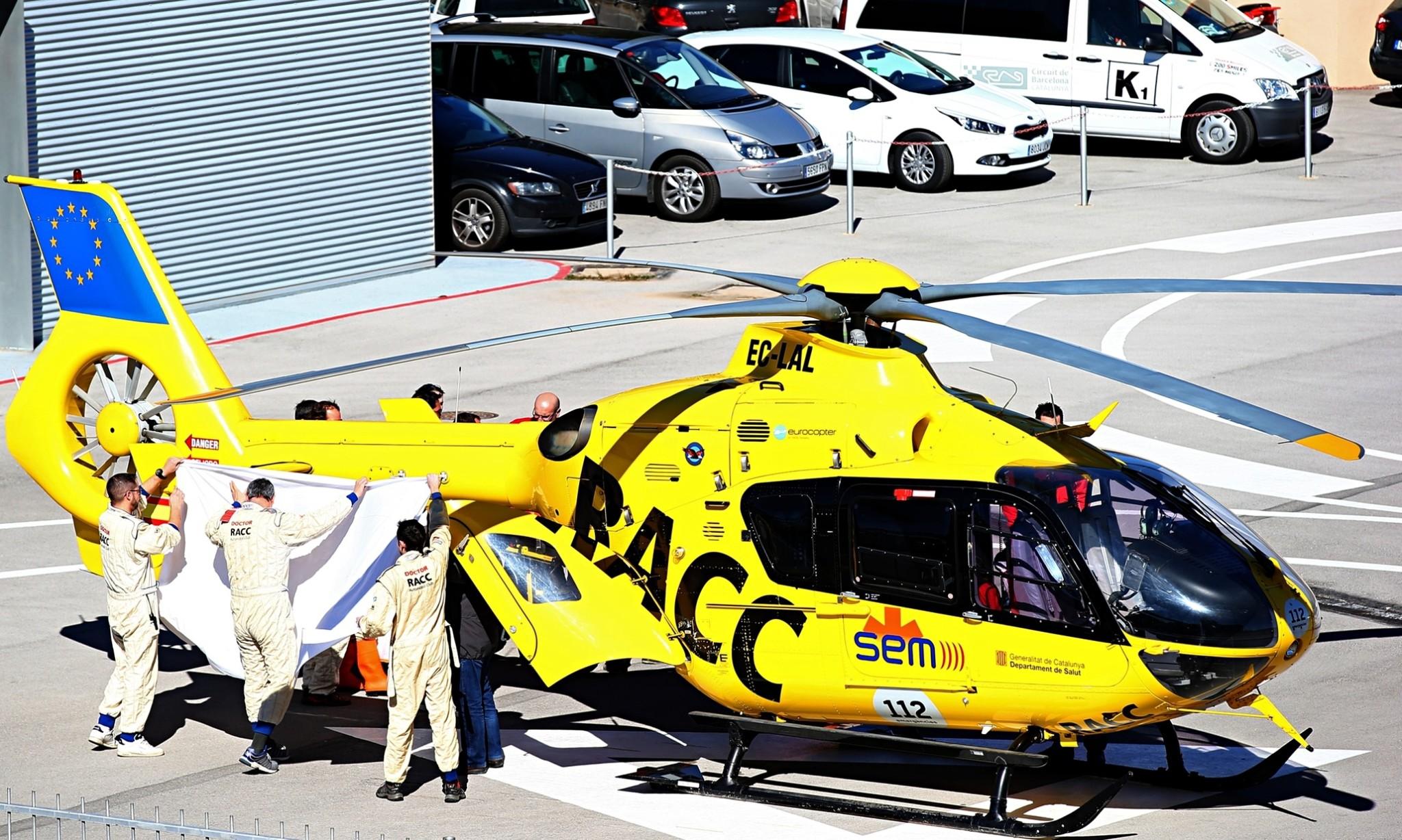 McLaren's Fernando Alonso flown to hospital after crash in F1 testing