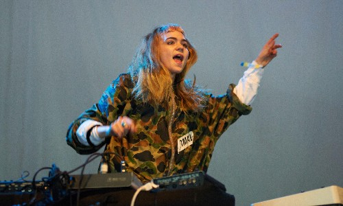 Grimes review – a suitably surreal invasion of the Miami Art Basel