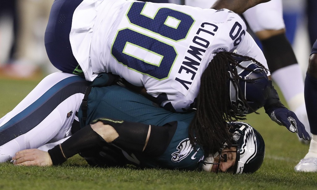 Eagles say 'dirty' hit knocked Carson Wentz out of playoff loss to Seahawks