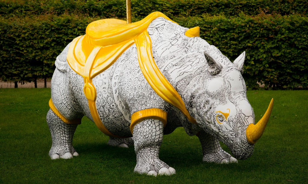 What's this rhino doing on a Wakefield lawn? The great British art quiz