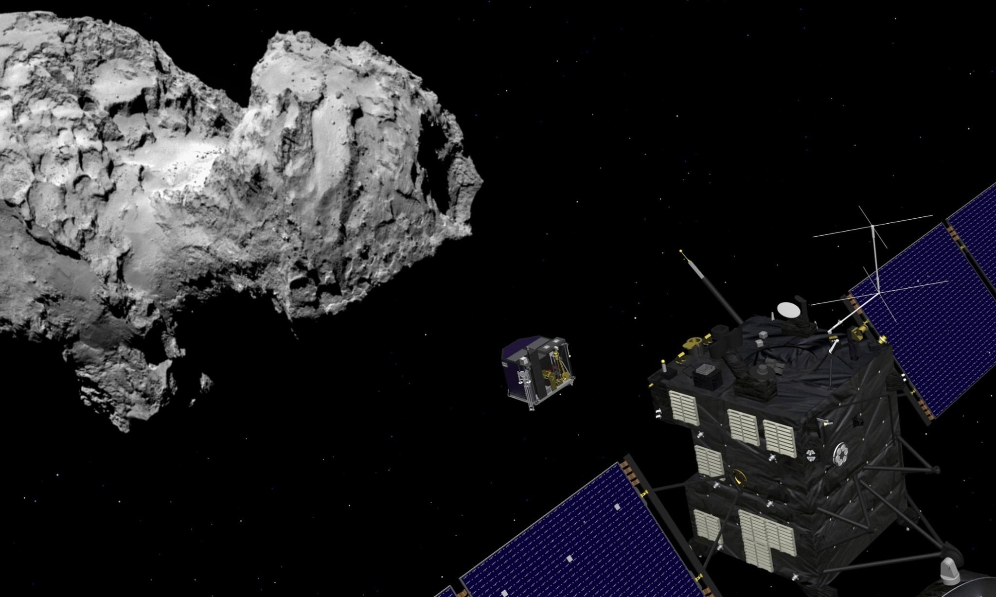 Rosetta comet landing on course despite wake-up glitch