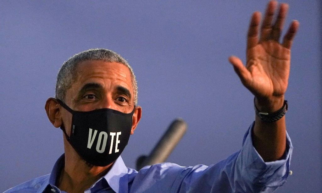 Barack Obama is back on the campaign trail