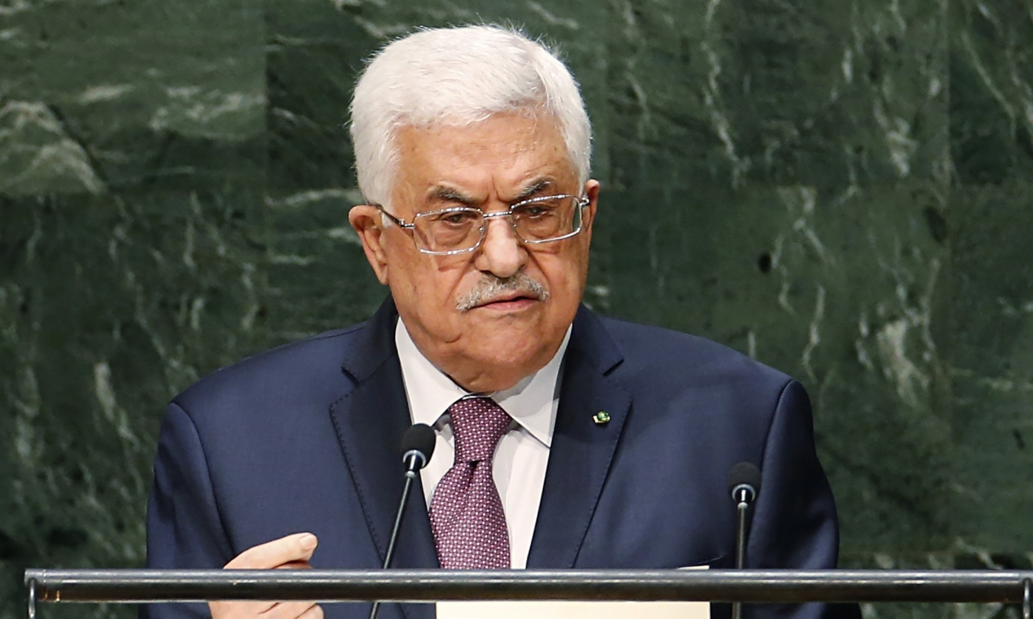 Mahmoud Abbas calls on UN to back deadline for Israeli withdrawal