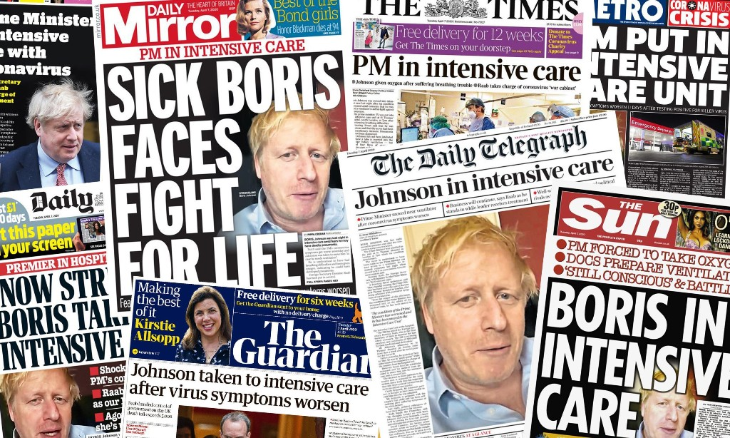 'Full-scale emergency': what the papers say about Boris Johnson's move to intensive care