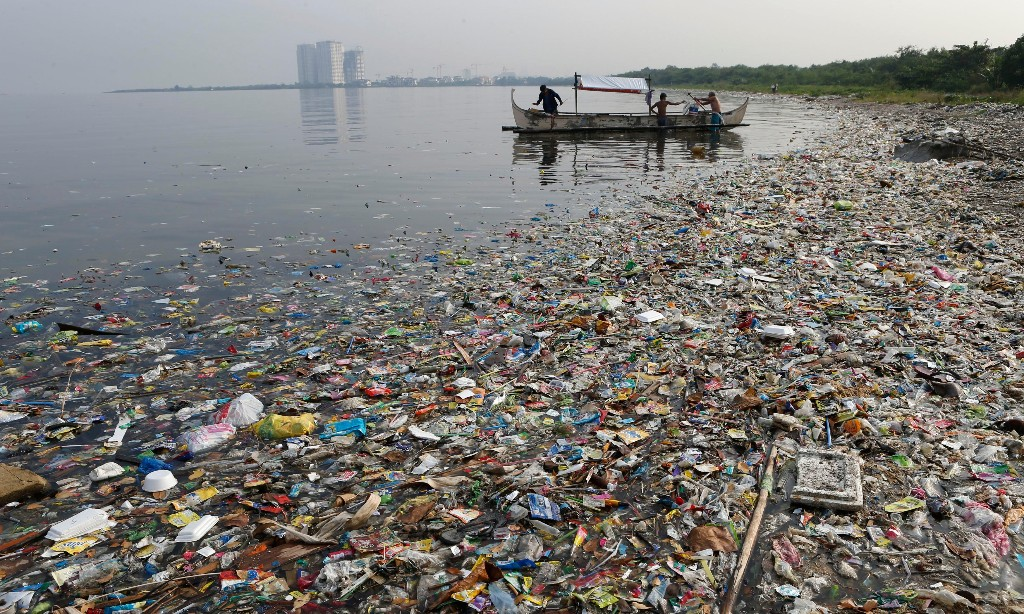 Plastic Now Produce Pollution - Magazine cover